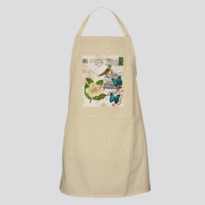 girly butterfly rose floral postage scripts  Apron