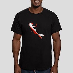 Mermaid Diver Men's Fitted T-Shirt (dark)