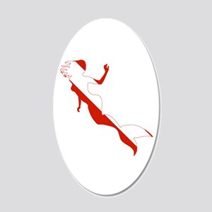 Mermaid Diver 20x12 Oval Wall Decal