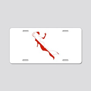 Mermaid Diver Aluminum License Plate