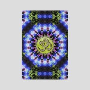 Om Symbol Blue Forest Energy Mand Rectangle Magnet