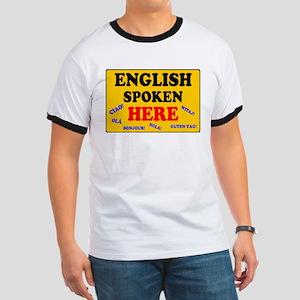 YELLOW SIGN - ENGLISH SPOKEN HERE T-Shirt