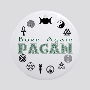 Born Again_button Ornament (Round)