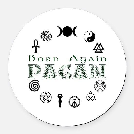 Born Again_button.png Round Car Magnet