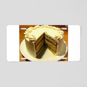Cake Aluminum License Plate