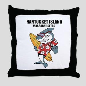 Nantucket Island, Massachusetts Throw Pillow