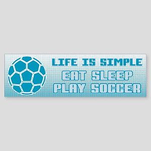 Eat, Sleep, Play Soccer Bumper Sticker