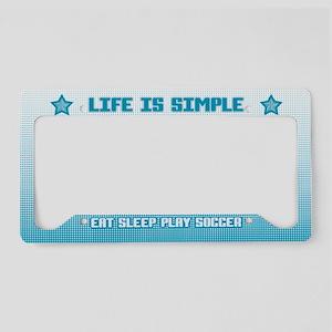Eat, Sleep, Play Soccer License Plate Holder