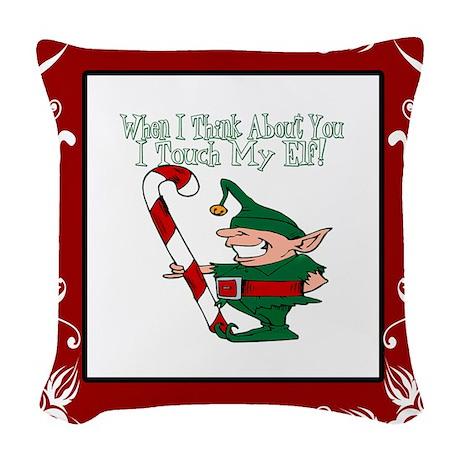 Blanket Christmas Touch my elf copy.jpg Woven Thro