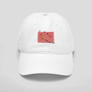 Ant Picnic on Red Checkered Cloth Baseball Cap