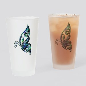 Abalone Shell Art Deco Butterfly Drinking Glass