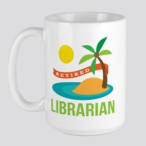 Retired Librarian (Tropical) Large Mug