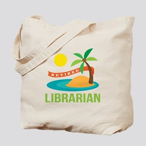 Retired Librarian (Tropical) Tote Bag