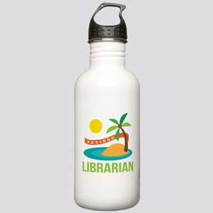 Retired Librarian (Tropical) Stainless Water Bottl