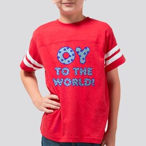 OY to the World! Jewish Star  Youth Football Shirt