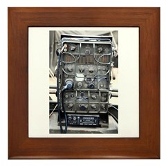 Vintage US Signal Corps Radio Framed Tile