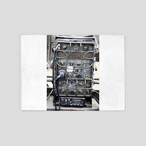 Vintage military radio 5'x7'Area Rug