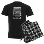 Vintage army radio design Men's Dark Pajamas