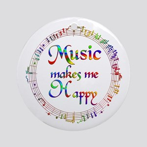 Music makes me Happy Ornament (Round)