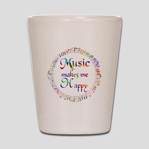 Music makes me Happy Shot Glass