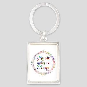 Music makes me Happy Portrait Keychain