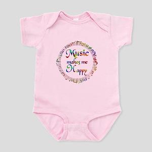 Music makes me Happy Infant Bodysuit