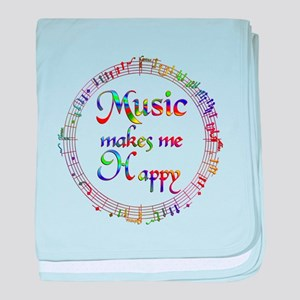 Music makes me Happy baby blanket