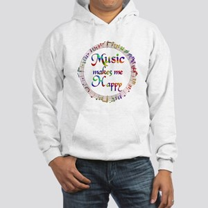 Music makes me Happy Hooded Sweatshirt