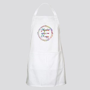 Music makes me Happy Apron