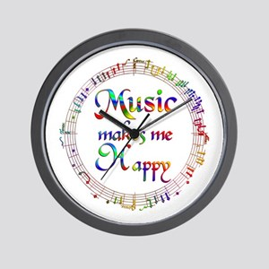 Music makes me Happy Wall Clock