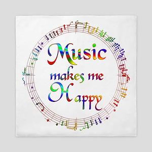 Music makes me Happy Queen Duvet