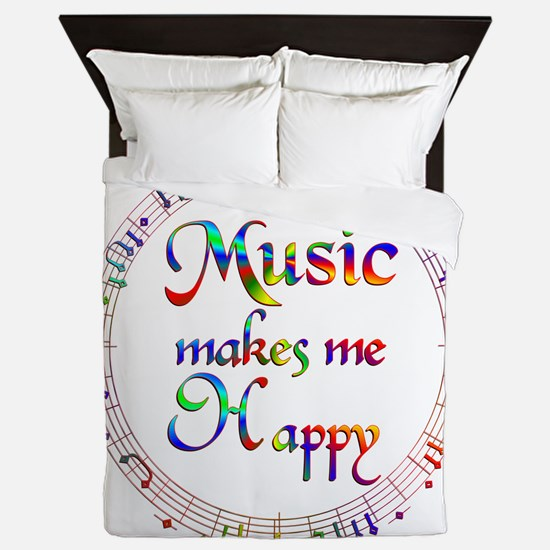 Music makes me Happy Queen Duvet