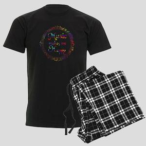 Music makes me Happy Men's Dark Pajamas