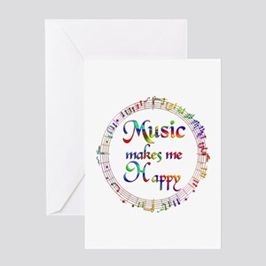 Music makes me Happy Greeting Card