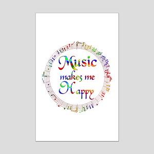 Music makes me Happy Mini Poster Print