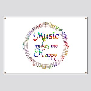 Music makes me Happy Banner