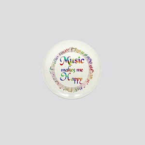 Music makes me Happy Mini Button