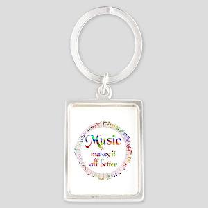 Music Makes it Better Portrait Keychain