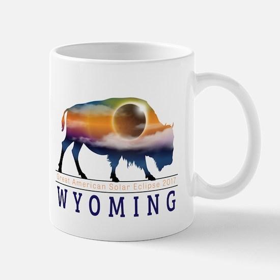 Wyoming Buffalo Eclipse Mugs