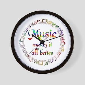 Music Makes it Better Wall Clock