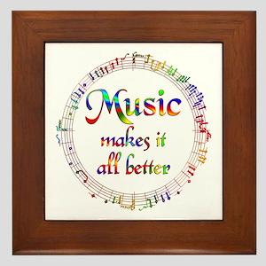 Music Makes it Better Framed Tile