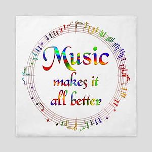 Music Makes it Better Queen Duvet