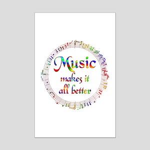 Music Makes it Better Mini Poster Print