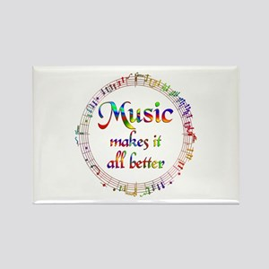 Music Makes it Better Rectangle Magnet