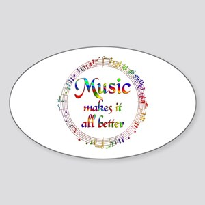 Music Makes it Better Sticker (Oval)