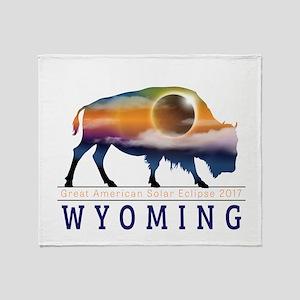 Wyoming Buffalo Eclipse Throw Blanket