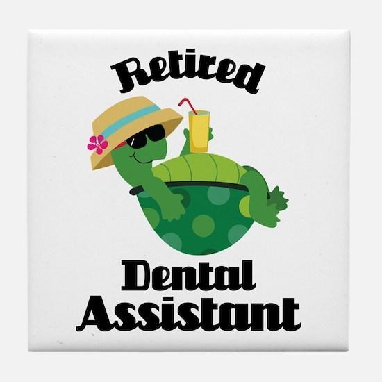 Retired Dental Assistant Tile Coaster