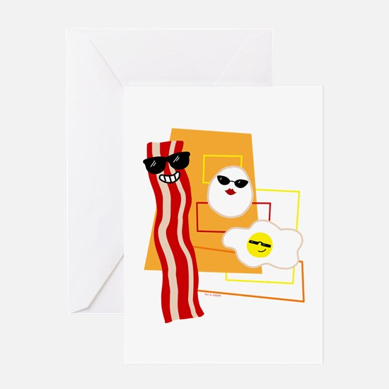 Cool Bacon and Eggs Greeting Card