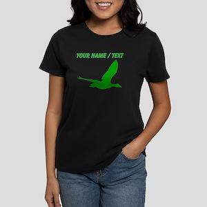 Custom Green Stork Silhouette T-Shirt
