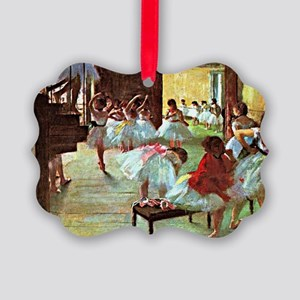 Ballet School, painting by Edgar  Picture Ornament